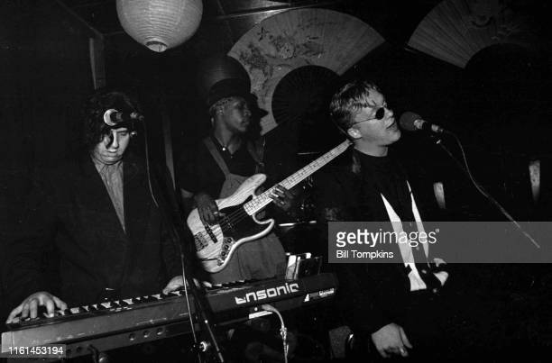 MANDATORY CREDIT Bill Tompkins/Getty Images Anthony Michael Hall sings at club Peggy Sues on June 6 1990 in New York City