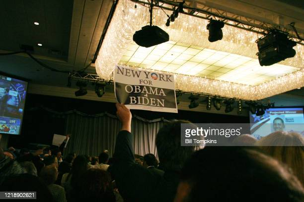 MANDATORY CREDIT Bill Tompkins/Getty Images Atmospheric shot during the Democratic Victory Celebration for Barack Obama at the Sheraton Hotel in New...