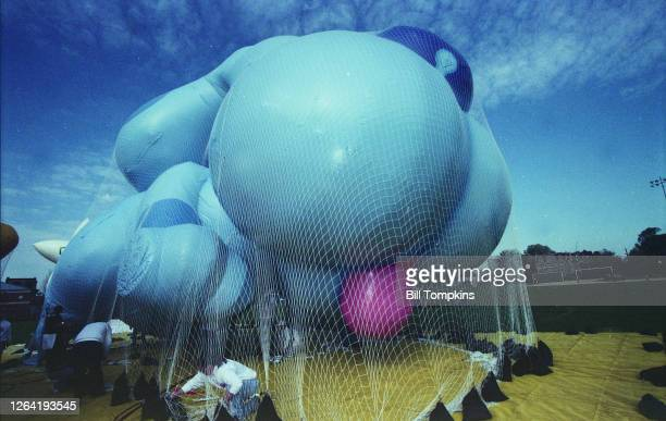 November 20: MANDATORY CREDIT Bill Tompkins/Getty Images Balloons being blown up to ensure working condition for the Macy's Thanksgiving Day Parade...