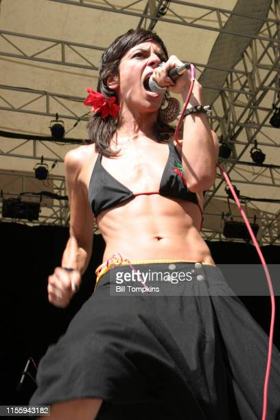 MANDATORY CREDIT Bill Tompkins/Getty Images Bebe performing at Central Park Summerstage in New York City as part of the LAMCnSaturday August 6 2005...