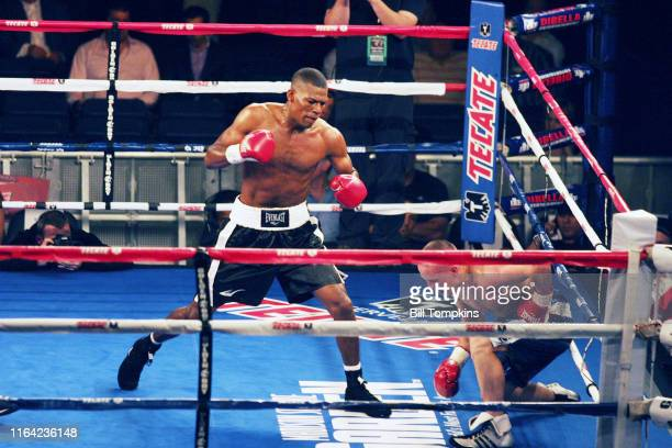 Bill Tompkins/Getty Images Brandeis Prescott defeats Jason Davis in their Welterweight fight at Madison Square Garden May 15, 2010 in New York City.