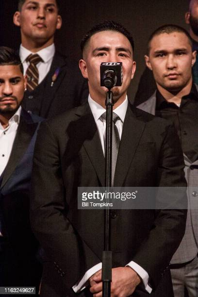 Bill Tompkins/Getty Images Brandon Rios speaks to the Media during SHOWTIME SPORTS 2018 Boxing Announcements at Cipriani on Jnauary 24, 2018 in New...