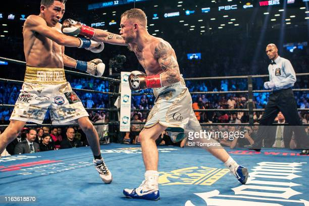 Bill Tompkins/Getty Images Carl Frampton defeats Leo Santa Cruz by Majority Decision during their Featherweight fight at the Barclay Center on July...