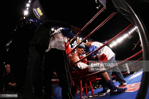 Bill Tompkins/Getty Images Carlos Negron defeats Garrett Wilson by Unanimous Decision during their Heavyweight fight on January 23 2010 in New York...