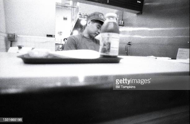 August 1995: MANDATORY CREDIT Bill Tompkins/Getty Images Counter person. August 1995 in New York City.