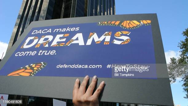 September 9: MANDATORY CREDIT Bill Tompkins/Getty Images DACA protest in Central Park on September 9, 2017 in New York City.