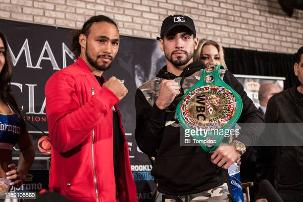 Bill Tompkins/Getty Images Danny Garcia poses at the Press conference for the Keith Thurman vs Danny Garcia Welterweight Champiosnhip fight in which...