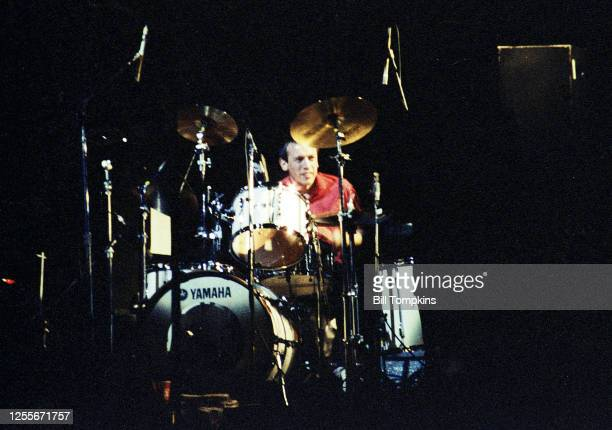 April 1982: MANDATORY CREDIT Bill Tompkins/Getty Images Dave Houghton, drummer for the Joe Jackson band in New York City.