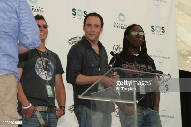 July 7: MANDATORY CREDIT Bill Tompkins/Getty Images Dave Matthews Band on July 7, 2007 in East Rutherford. Live Earth was a one off event developed...