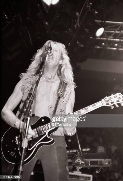Bill Tompkins/Getty Images Davey Johnstone, lead guitarist for the Elton John band performs at Madison Square Garden 1983 in New York City.