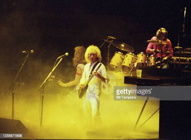 Bill Tompkins/Getty Images Dee Murray bass guitar for the Elton John Band performs at Madison Square Garden 1983 in New York City