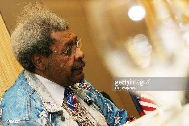 January 18: MANDATORY CREDIT Bill Tompkins/Getty Images Don King gives interviews on January 18, 2008 in New York City.