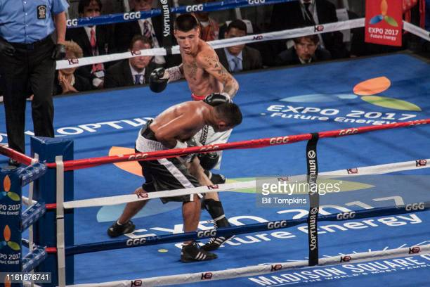 July 26: MANDATORY CREDIT Bill Tompkins/Getty Images Dusty Hernandez Harrison defeats Wilfredo Acuna by Unanimous Decision in their Welterweight...