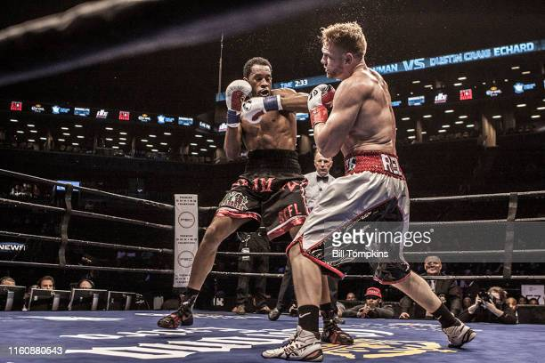 April 16: MANDATORY CREDIT Bill Tompkins/Getty Images Earl Newman defeats Dustin Echard by TKO in the 4th round in their Light Heavyweight fight....