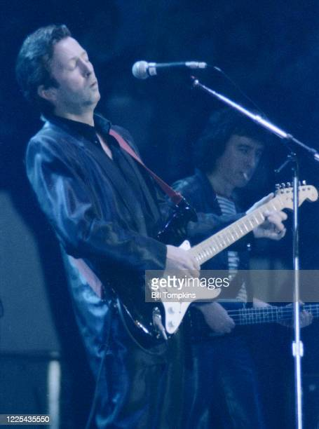 MANDATORY CREDIT Bill Tompkins/Getty Images Eric Clapton performs during the ARMS Charity Concerts which were a series of charitable rock concerts in...