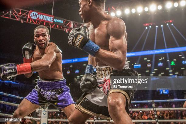 MANDATORY CREDIT Bill Tompkins/Getty Images Errol Spence Jr defeats Lamont Peterson by RTD in the 10th round in their Championship Welterweight fight...