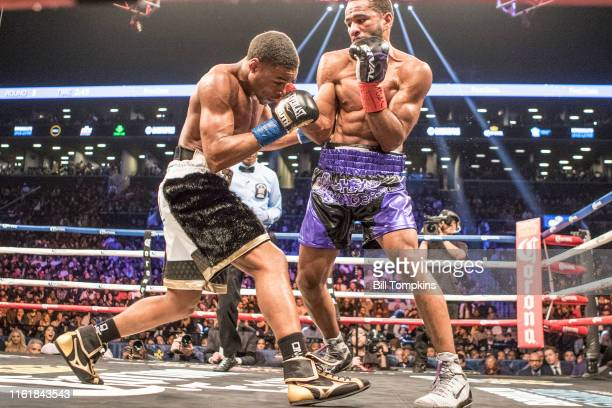 January 20: MANDATORY CREDIT Bill Tompkins/Getty Images Errol Spence Jr defeats Lamont Peterson by RTD in the 10th round in their Championship...