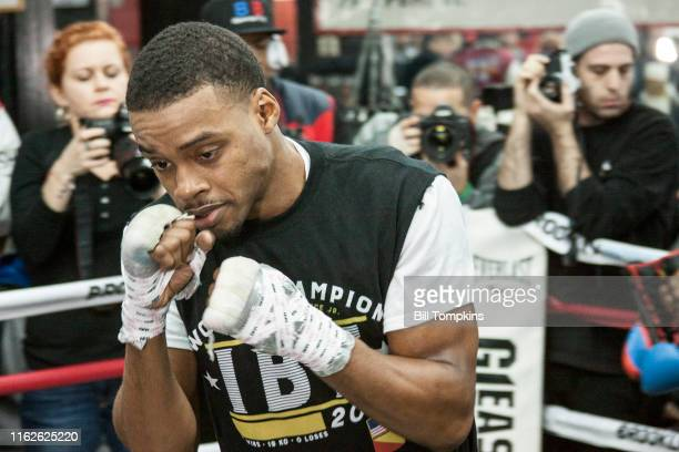 Bill Tompkins/Getty Images Errol Spence Jr works out during the Media Workout Day Gleason's Gym on January 17, 2018 in Brooklyn.
