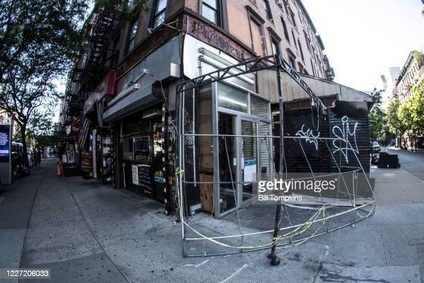Bill Tompkins/Getty Images Final stripping of the former Lower East Side iconic shop GEM SPA located on the corner of St. Mark's Place and 2nd...