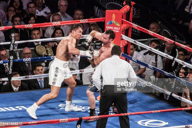 July 26: MANDATORY CREDIT Bill Tompkins/Getty Images Gennady Golovkin defeats Daniel Geale by TKO in the 3rd round of their Middelweight fight at...