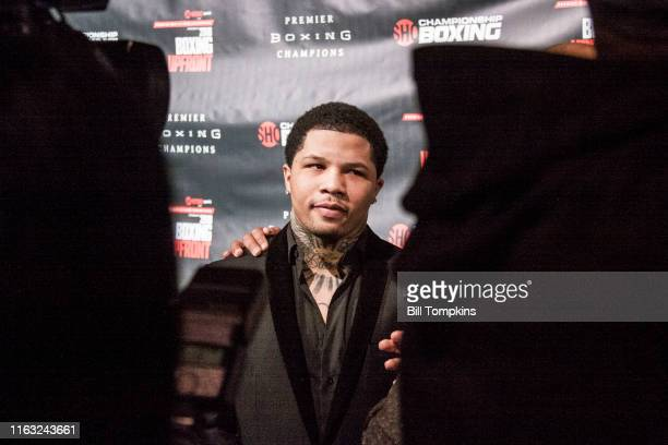 Bill Tompkins/Getty Images Gervonta Davis speaks to the Media during SHOWTIME SPORTS 2018 Boxing Announcements at Cipriani on Jnauary 24, 2018 in New...