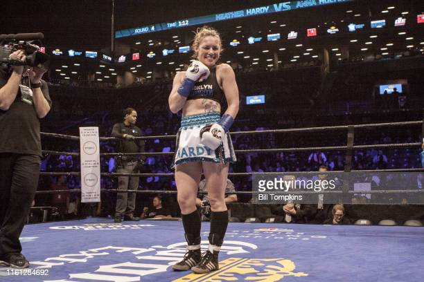MANDATORY CREDIT Bill Tompkins/Getty Images Heather Hardy defeats Anna Hultin by TKO in the 4th round in their Featherweight fight Hardy is...