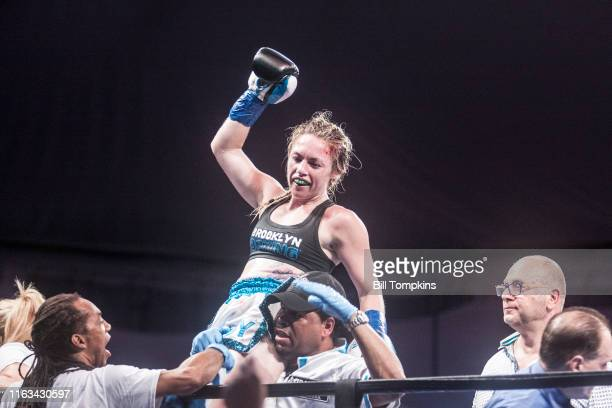 Bill Tompkins/Getty Images Heather Hardy defeats Shelly Vincent by Majority Decision in their Featherweight fight on August 21 2016 in Brooklyn Hardy...