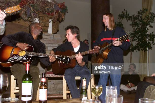MANDATORY CREDIT Bill Tompkins/Getty Images Hootie The BlowFish and Kevin Bacon performing January 1999 in Aspen