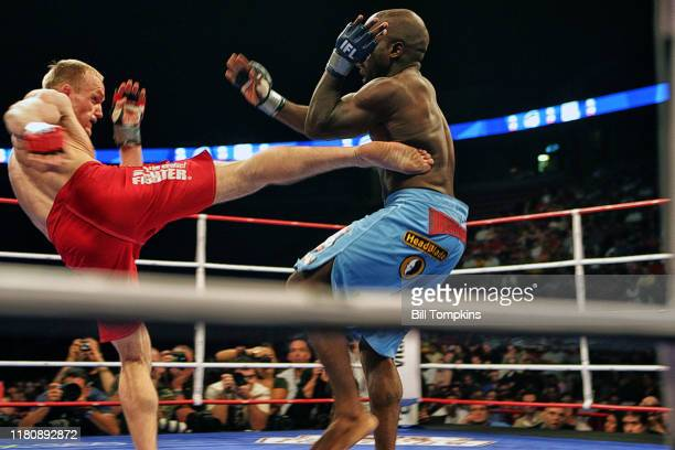 """Bill Tompkins/Getty Images IFL International Fight League. Savant Young vs. Devita Tauraseviou Continental Arena""""nAugust 2, 2007 in East Rutherford."""