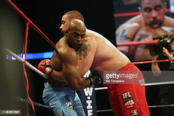 Bill Tompkins/Getty Images IFL International Fight League. Wayne Cole vs. Brian Puertell. Continental Arena August 2, 2007 in East Rutherford.
