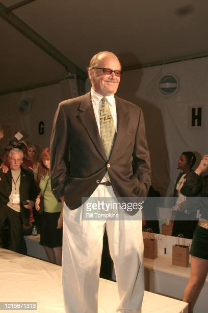 MANDATORY CREDIT Bill Tompkins/Getty Images Jack Nicholson attending his daughter's Fall 2004 Collection during Fashion Week at Bryant Park nSunday...
