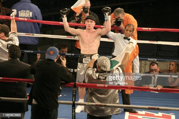 Bill Tompkins/Getty Images Jamie Kavanagh defeats William Ware by TKO in the 2nd round during their Super Lightweight fight at Madison Square Garden...