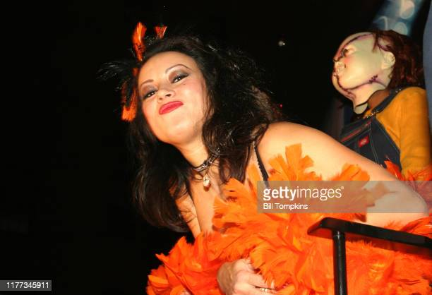MANDATORY CREDIT Bill Tompkins/Getty Images Jennifer Tilly during the Halloween Parade in Greenwich Village October 31 2004 in New York City