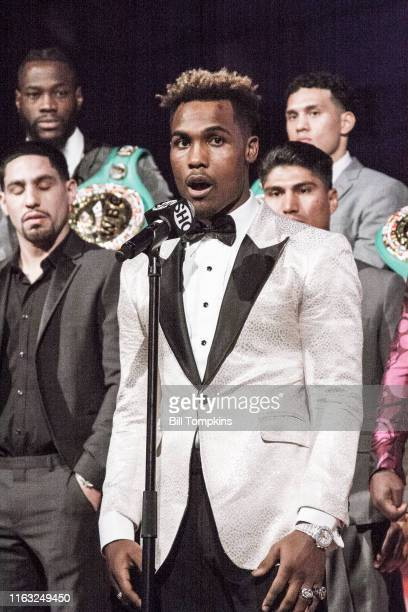 Bill Tompkins/Getty Images Jermell Charlo speaks to the Media during SHOWTIME SPORTS 2018 Boxing Announcements at Cipriani on Jnauary 24, 2018 in New...