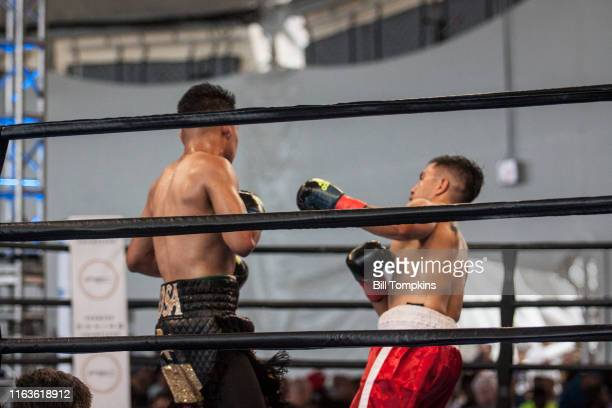 Bill Tompkins/Getty Images Julian Sosa defeats Rene Marquez by Unanimous Decision during their Welterweight fight in Coney Island on August 21, 2016...
