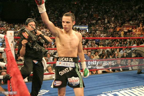 Bill Tompkins/Getty Images Julio Cesar Chavez Jr at Madison Square Garden on June 9 2007 in New York City