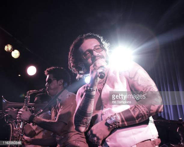 MANDATORY CREDIT Bill Tompkins/Getty Images Karlos Solrak Paez of B Side Players perform at the Canal Room September 27 2007 in New York City