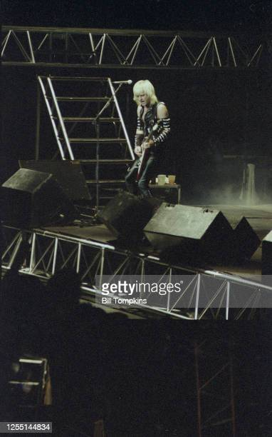 February 1982: MANDATORY CREDIT Bill Tompkins/Getty Images KK Downing of Judas Priest performs at Madison Square Garden February 1982 in New York...