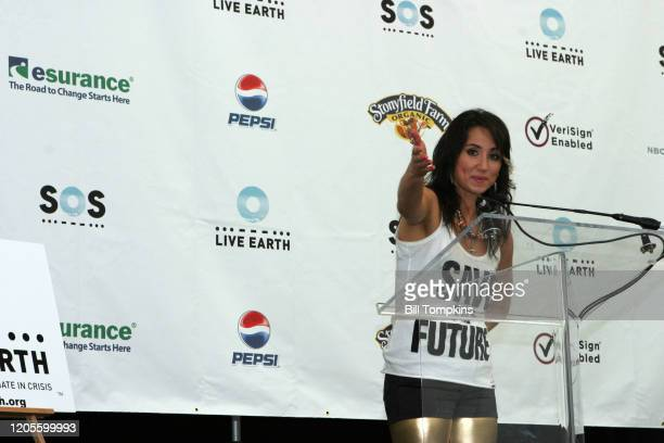 July 7: MANDATORY CREDIT Bill Tompkins/Getty Images KT Tunstall on July 7, 2007 in East Rutherford. Live Earth was a one off event developed to...