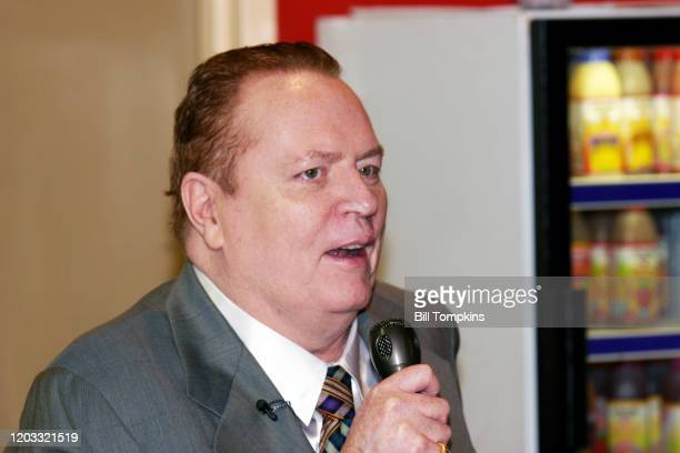 June 28: MANDATORY CREDIT Bill Tompkins/Getty Images Larry Flynt of SCREW magazine apprears at Coliseum Books in New York City to promote his new...