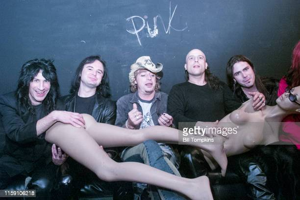 October 10: MANDATORY CREDIT Bill Tompkins/Getty Images Leif Garrett backstage with his band F8 at club DON HILL's on October 10, 2002 in New York...