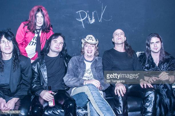 MANDATORY CREDIT Bill Tompkins/Getty Images Leif Garrett backstage with his band F8 at club DON HILL's on October 10 2002 in New York City