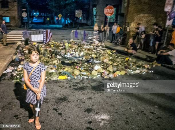 MANDATORY CREDIT Bill Tompkins/Getty Images Little girl at the street memorial for Heather Heyer on August 18 2017 in Charlottesville On August 12 a...