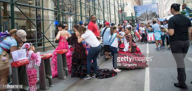 MANDATORY CREDIT Bill Tompkins/Getty Images Marchers during the Puerto Rican Day Parade on June 11 2017 in New York City