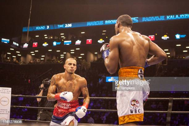 MANDATORY CREDIT Bill Tompkins/Getty Images Marcus Browne defeats Radivoje Kalajdzic by Split Decision in their Light Heavyweight fight Both men face...
