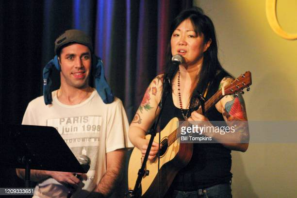 """March 9: MANDATORY CREDIT Bill Tompkins/Getty Images Margaret Cho and John Roberts performing at COMIX in New York City""""nMarch 9, 2009 in New York..."""