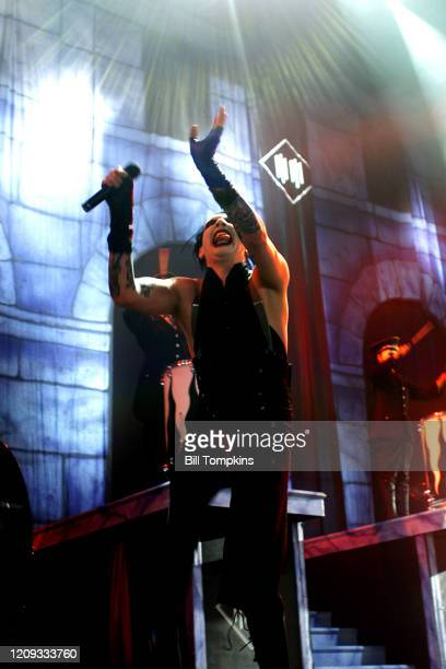 July 19: MANDATORY CREDIT Bill Tompkins/Getty Images Marilyn Manson performs on July 19, 2007 in New York City.