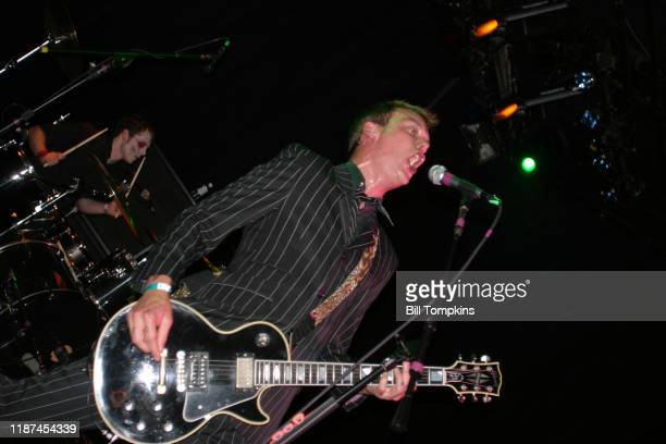 MANDATORY CREDIT Bill Tompkins/Getty Images Matt Skiba of Aklaline Trio performing during the Joey Ramone Bithday Bash at Irving Plaza on May 19 2004...
