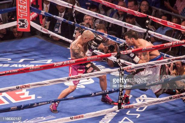 June 7: MANDATORY CREDIT Bill Tompkins/Getty Images Miguel Cotto defeats Sergio Martinez during their world middleweight boxng match in which Cotto...