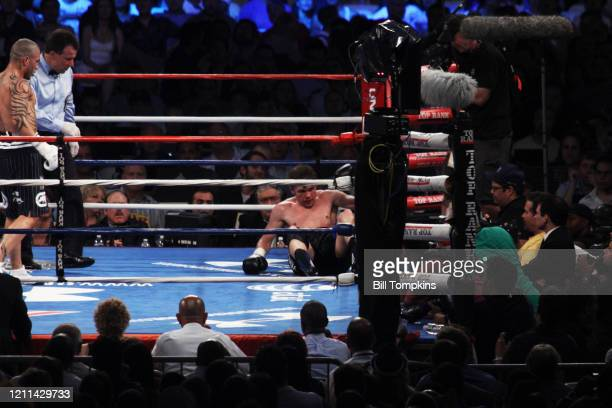 MANDATORY CREDIT Bill Tompkins/Getty Images Miguel Cotto defeats Yuri Foreman by 9th round TKO in their WBA Super Welterweight championship fight at...